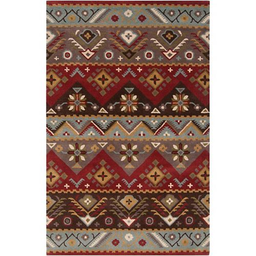 Artistic Weavers Dillon Red 9 ft. x 12 ft. Indoor Contemporary Rectangular Area Rug
