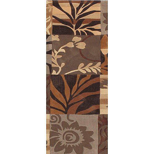Artistic Weavers Equinox Brown 2 ft. 6-inch x 8 ft. Indoor Contemporary Runner