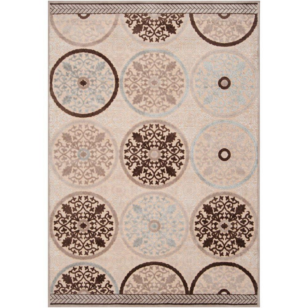 Artistic Weavers Clay Beige Tan 7 ft. 6-inch x 10 ft. 6-inch Indoor Transitional Rectangular Area Rug