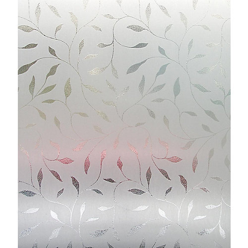 Etched Leaf Window Film - 24 Inch x 36 Inch