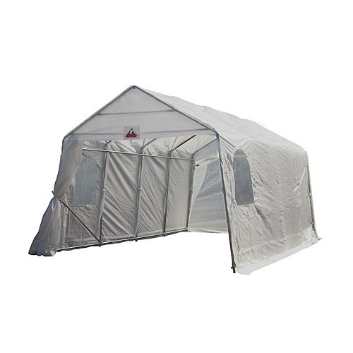Everest 11 ft. x 16 ft. Car Shelter in White