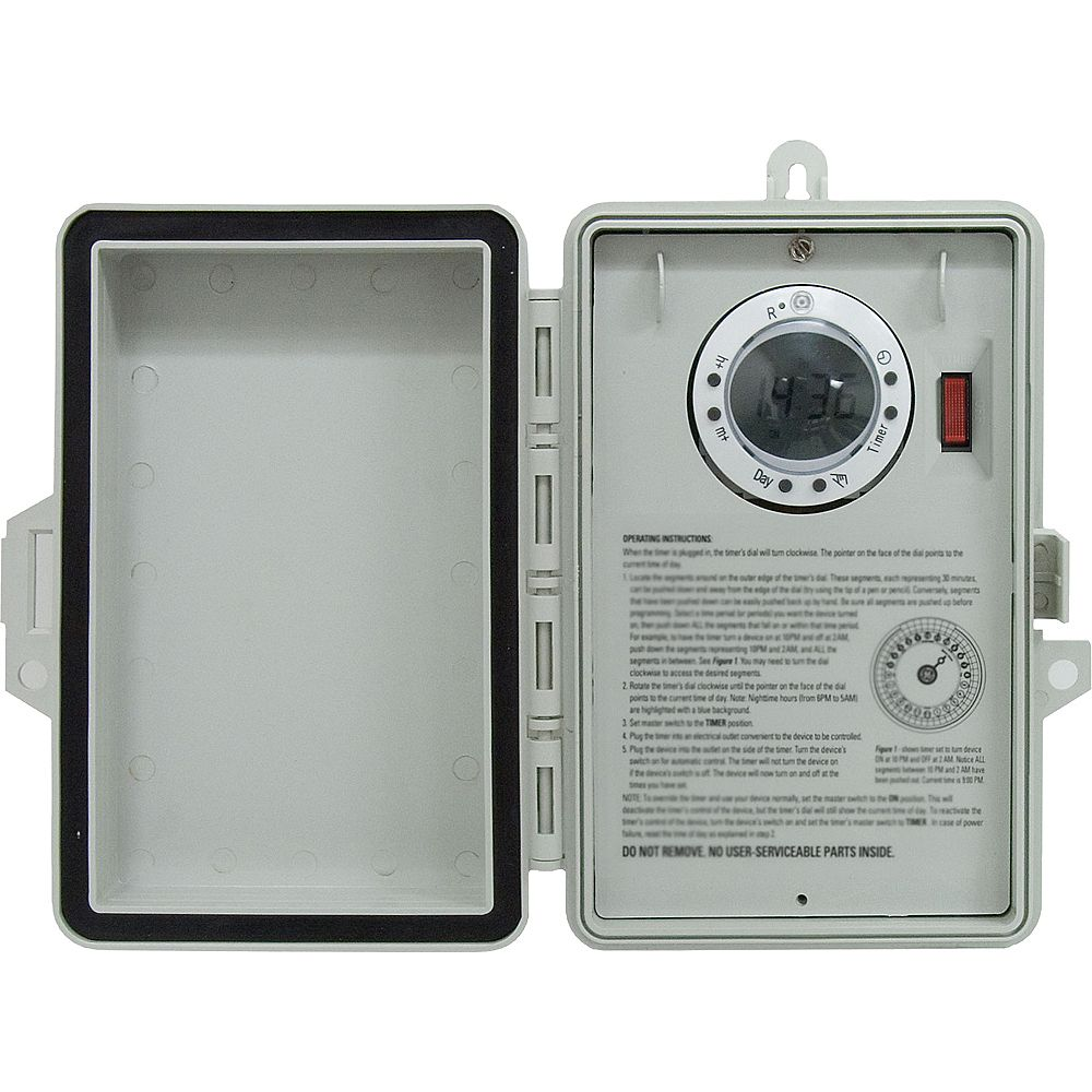 GE Outdoor 7 Day Digital Box Timer