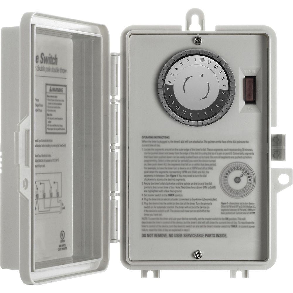 GE Indoor 24 Hour Mechanical Box Timer