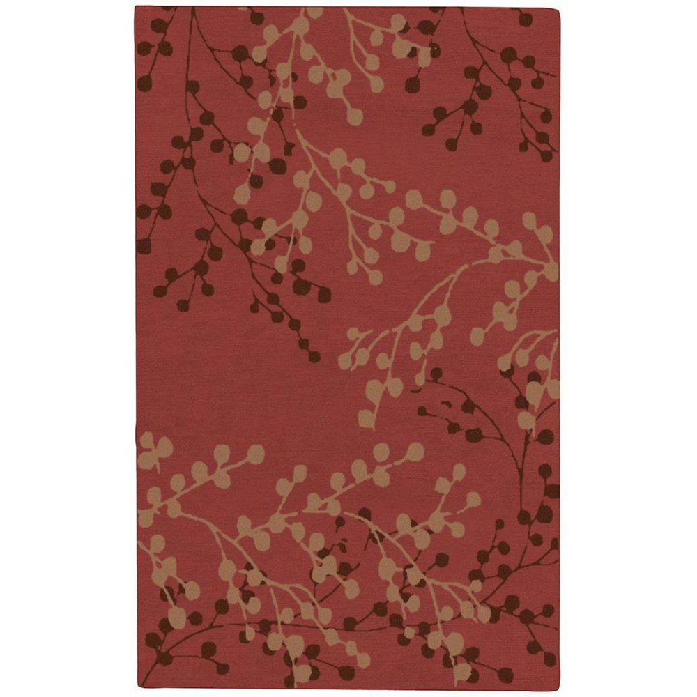 Artistic Weavers Blossoms Red 5 ft. x 8 ft. Indoor Transitional Rectangular Area Rug
