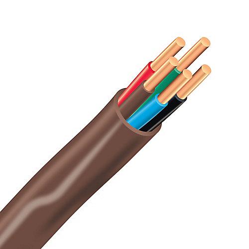 Câble électrique de thermostat en cuivre FAS/LVT – 18/5 brun 15 m