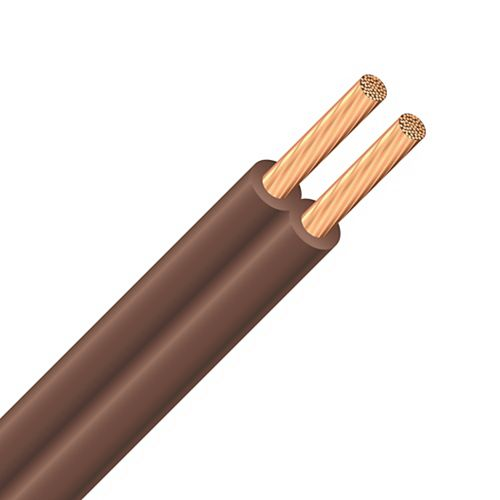Fil électrique SPT 18/2 de 7,5 m - brun