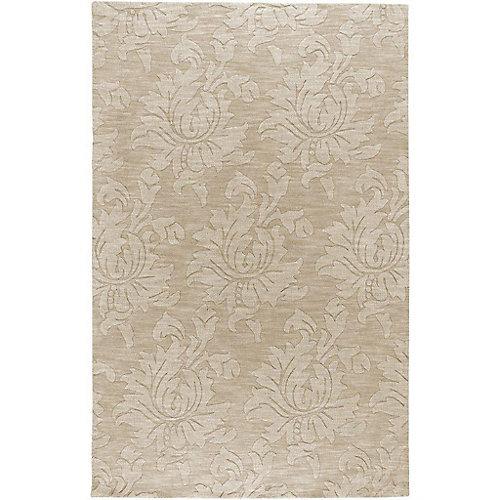 Carpette, 9 pi x 12 pi, beige Sofia