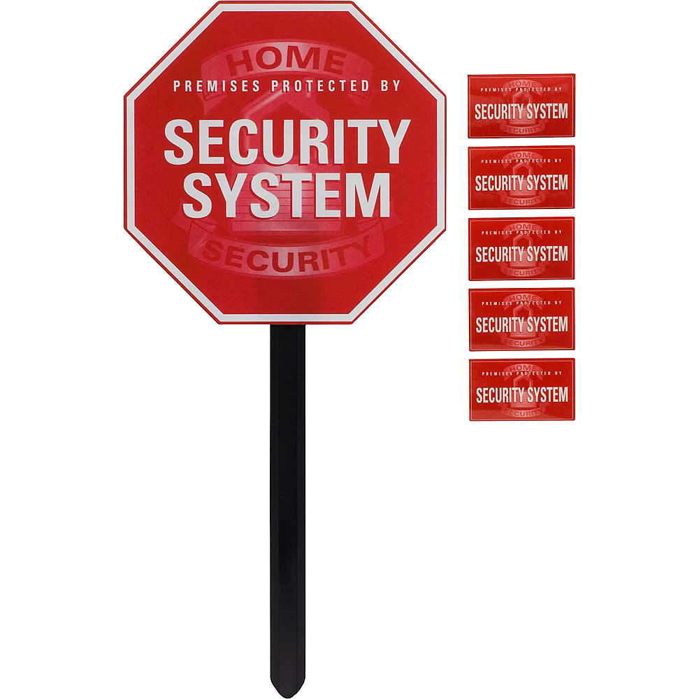 Ge Security Sign With Yard Stake The