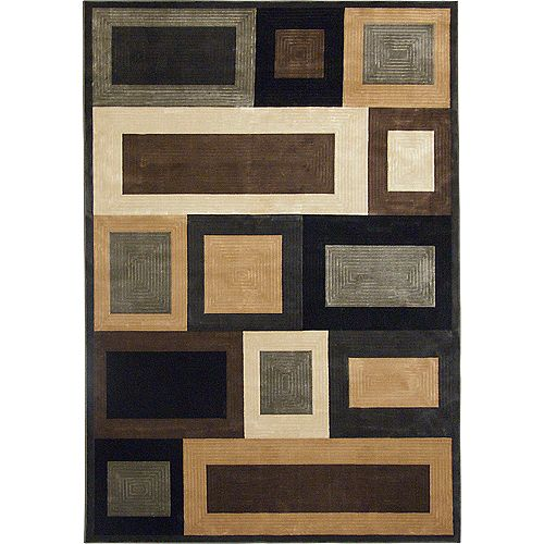 Korhani Optime Brown 1 ft. 8-inch x 2 ft. 8-inch Indoor Contemporary Rectangular Mat