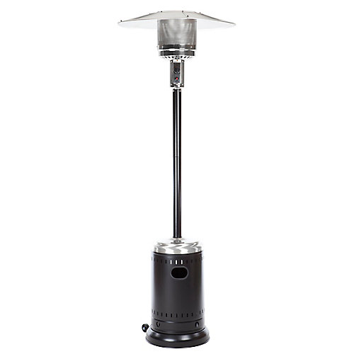 Black & Stainless Steel Full Size Propane Patio Heater