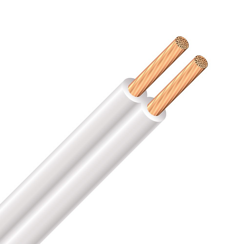 Southwire Spt Copper Electrical Lamp Cord 18 2 White 7 5m The Home Depot Canada