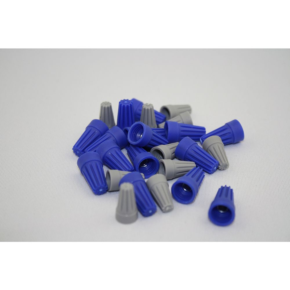 Commercial Electric CE Wire Connectors Blue/Grey Qty 25