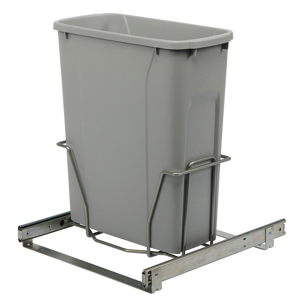 Real Solutions Bottom Mount Waste and Recycling Bin Fits 15inch (38.1 Centimeters) Wide Opening