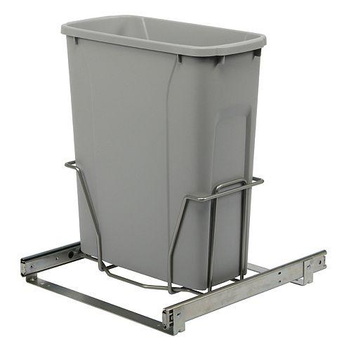 Poubelle à déchets ou recyclage coulissante qui s'installe au bas d'une armoire avec ouverture minimum de 15 po. (38,1cm)