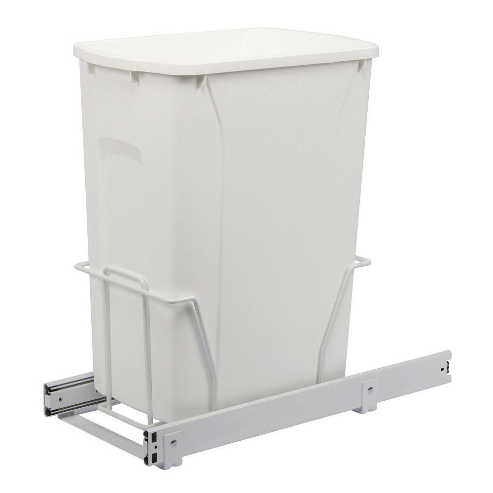Knape & Vogt Slide-Out Waste Bin - 35 Quart - Lid is not Included
