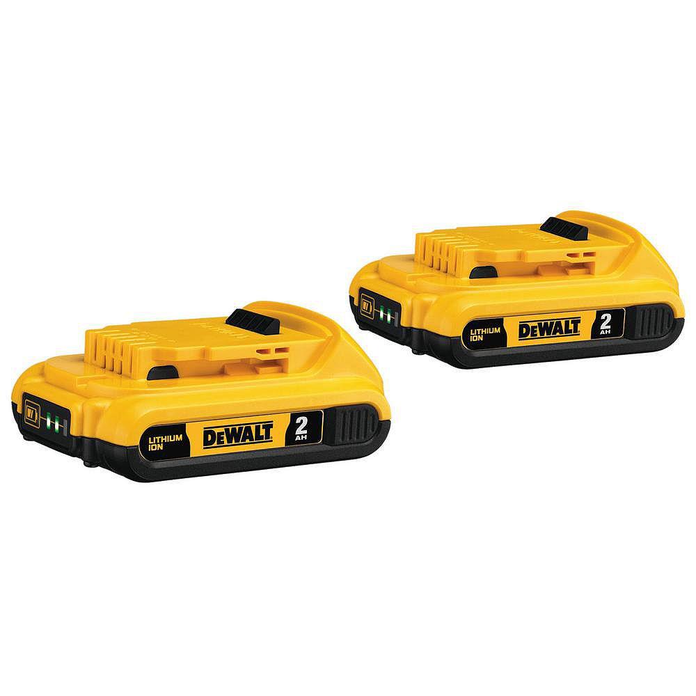 DEWALT 20V MAX Lithium-Ion Compact Battery Pack 2.0Ah (2-Pack)