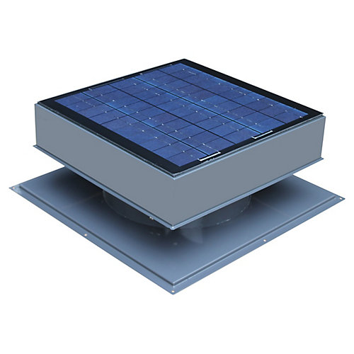 30W 1550 CFM Grey Solar Powered Attic Fan