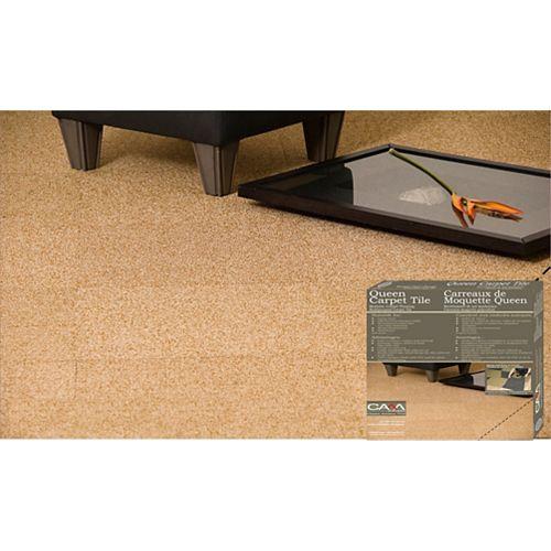 19.69 Inch x 19.69 Inch Cream Queen Carpet Tile - Per Case