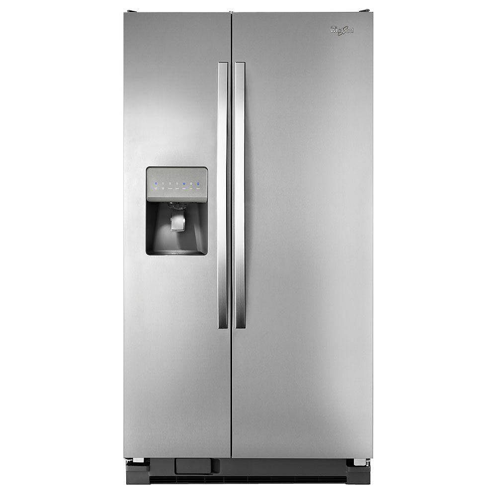 Whirlpool 24.5 cu. ft. Side-by-Side Refrigerator with Temperature Control in Stainless Steel