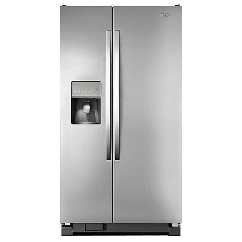24.5 cu. ft. Side-by-Side Refrigerator with Temperature Control in Stainless Steel