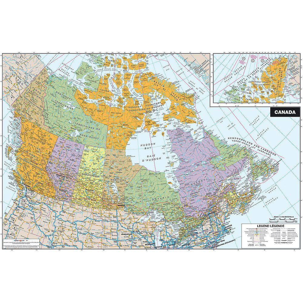 WallPops Canada Dry Erase Map Decal