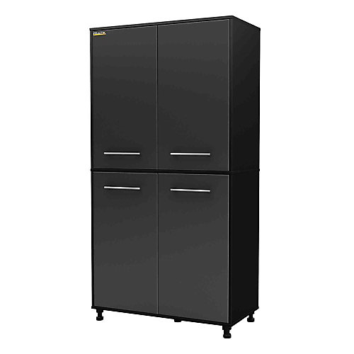 Karbon Storage Cabinet in Pure Black & Charcoal
