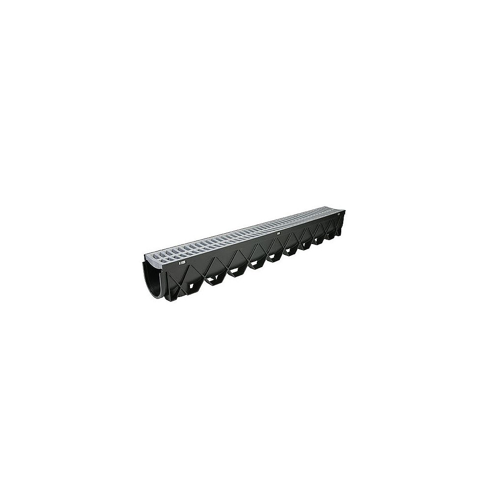RELN 40 in. Storm Drain Deep Channel Drain Series with Portland Grey Grate