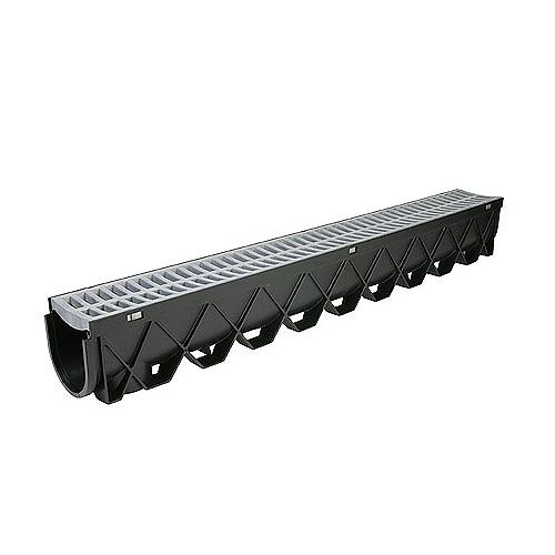 Storm Drain Deep Series 40 inch Channel Drain with Portland Grey Grate