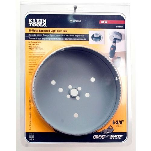 Klein Tools 6-3/8 Inch Bi-Metal recessed Light Hole Saw