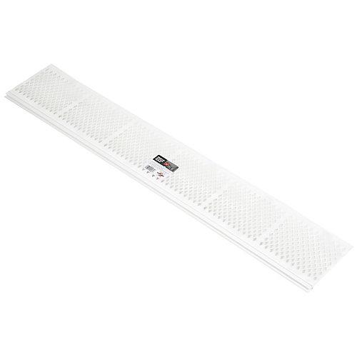 3 ft Gutter Snap-In Filter White