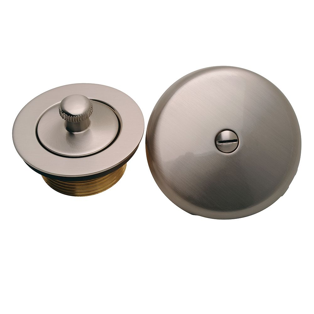 MOEN Lift And Lock Drain, Waste And Overflow Trim Kit In Brushed Nickel