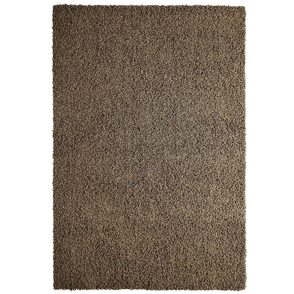 Lanart Rug Carpette d'intérieur, 5 pi x 7 pi, à poils longs, rectangulaire, brun Comfort