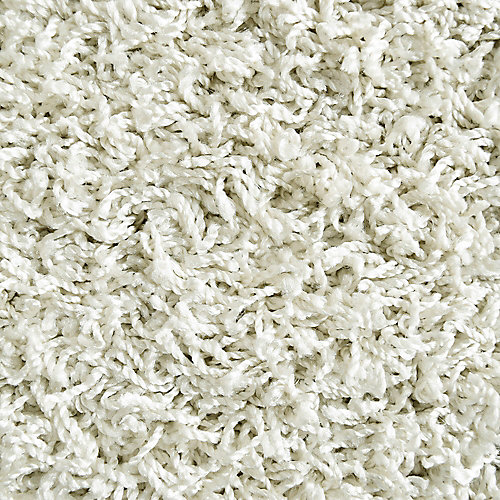 Comfort White 5 ft. x 7 ft. Indoor Shag Rectangular Area Rug