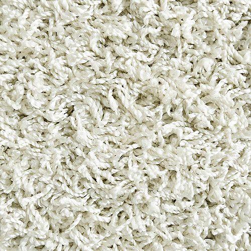 Lanart Rug Comfort White 5 ft. x 7 ft. Indoor Shag Rectangular Area Rug