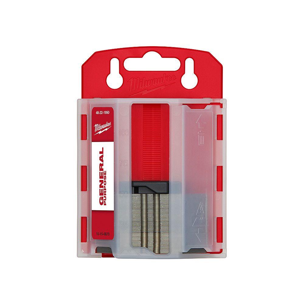 Milwaukee Tool 50 PC General Purpose Utility Blades w/ Dispenser