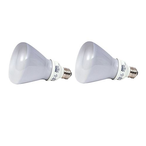 Philips CFL 15W = 65W R30 Reflector Daylight (6500K) - (2-Pack)