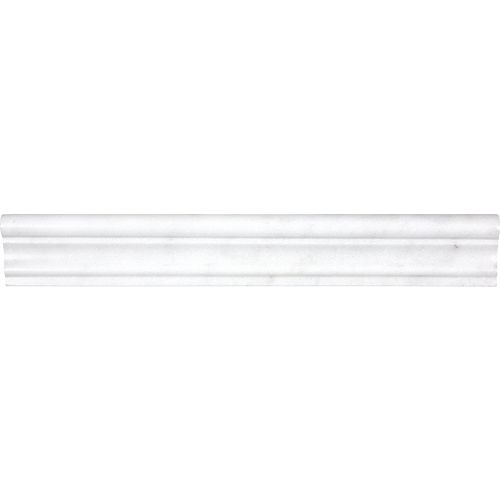 Enigma 2-inch x 12-inch Bianco Honed Chair Rail