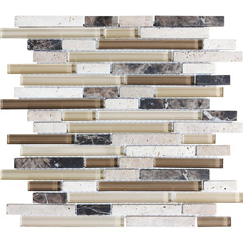 Glass Blend Linear Strips in Portabella