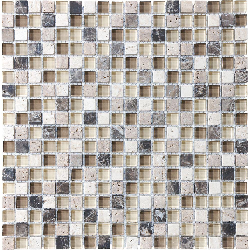 Enigma Mosaïques En Mélange De Verre Portabella De 5/8 Po × 5/8 Po