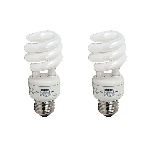 CFL 13W = 60W Mini Twister Soft White (2700K) - (2-Pack)
