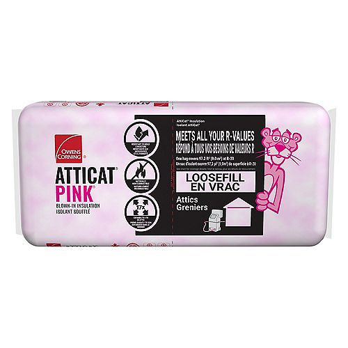 AttiCat Expanding Pink Fiberglas Blown-In Insulation System