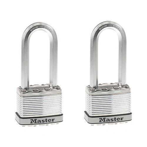 """Master Lock Master Lock Magnum Cadenas lamine 2"""" with 2-1/2"""" l'arceau 2Pk"""