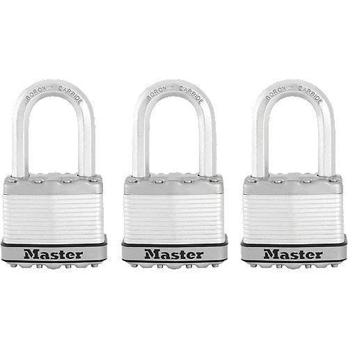 """Master Lock Magnum Cadenas lamine 2"""" with 1-1/2"""" l'arceau 3Pk"""