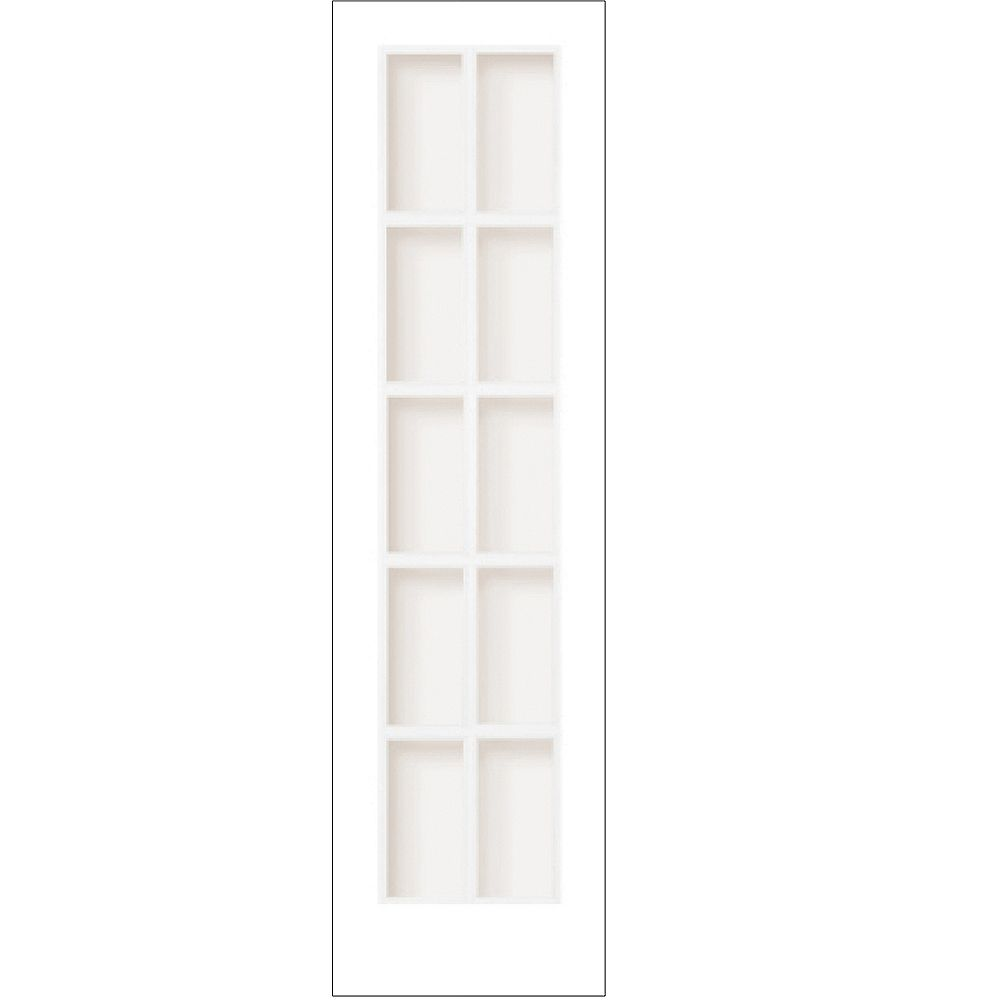Milette 24-inch x 80-inch Primed 10 Lite Interior French Door with Clear Glass  The Home Depot