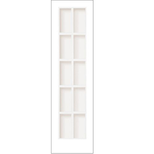 Milette 24-inch x 80-inch Primed 10 Lite Interior French Door with Clear Glass