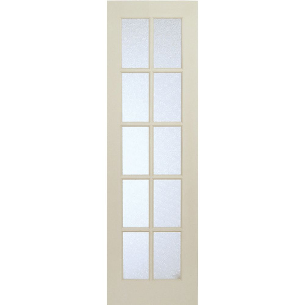 Milette 24 Inch X 80 Inch Primed 10 Lite Interior French Door With Martele Privacy Glass The Home Depot Canada