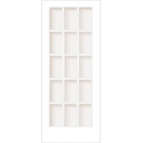 30-inch x 80-inch Primed 15 Lite Interior French Door with Clear Glass