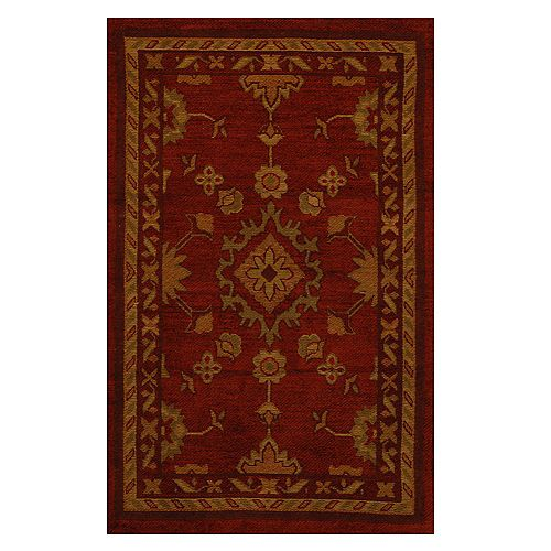 Lanart Rug Avenue Red 1 ft. 9-inch x 2 ft. 10-inch Indoor Traditional Rectangular Mat