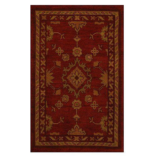 Lanart Rug Carpette d'intérieur, 1 pi 9 po x 2 pi 10 po, style traditionnel, rectangulaire, Avenue rouge