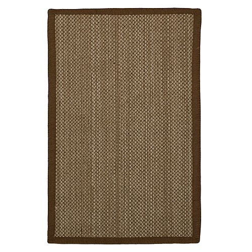 Lanart Rug Chenille Sisal Brown 2 ft. 3-inch x 4 ft. Indoor Contemporary Rectangular Mat
